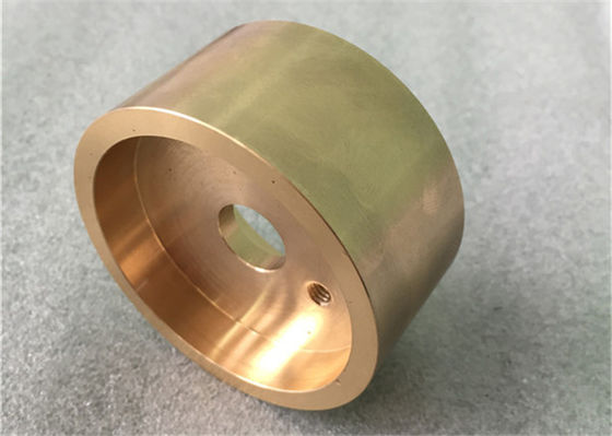 China Small Batch Mechanical Polished Precision Brass Turned Components For Transition Cable supplier